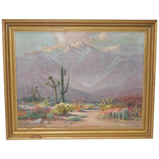 Desert Landscape Oil Painting by Arthur Best