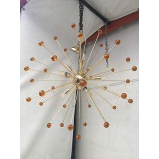 Amber Murano Glass Triedo and Gold 24k Sputnik Frame Preview