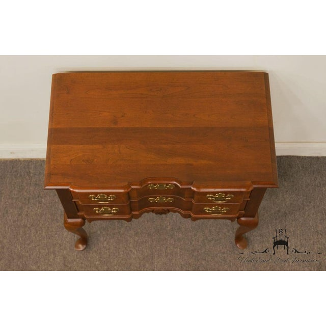 Late 20th Century 20th Century Traditional Wells Furniture Cherry Blockfront Lowboy Chest For Sale - Image 5 of 13