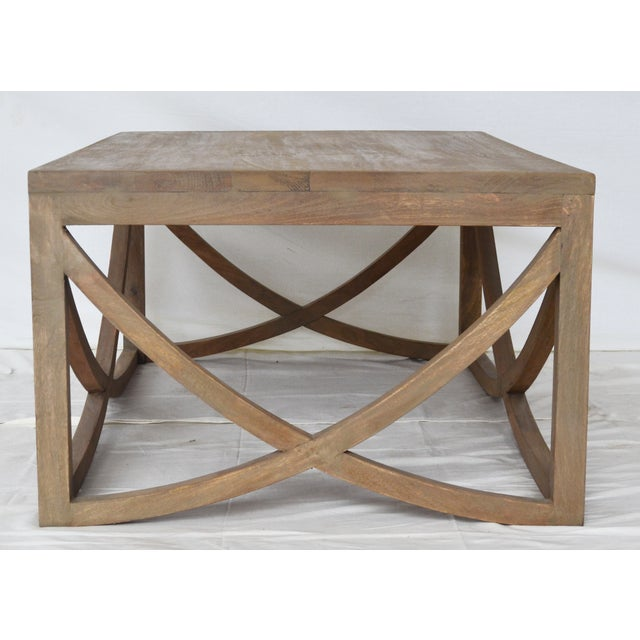Contemporary Mango Wood Coffee Table For Sale - Image 3 of 3