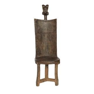 African 3-Legged Makonde Chair