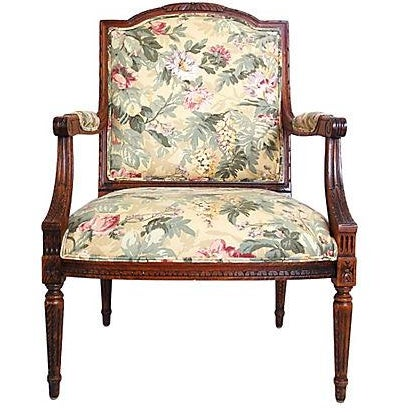 Louis XVI Style Occasional Chair - Image 1 of 7