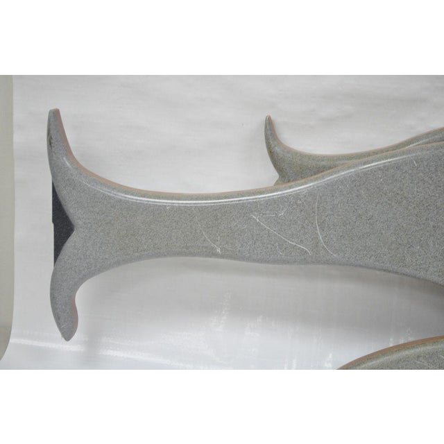 """48"""" Custom Made 3d Laminated Formica Mother Dolphin & Baby Pup Calf Sculpture For Sale In Philadelphia - Image 6 of 11"""