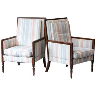 1920s Vintage Italian Neoclassical Style Bergères- A Pair For Sale