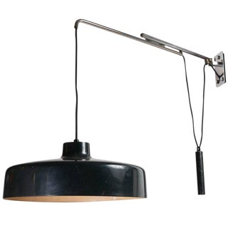1950s Mid-Century ModernGino Sarfatti Model 194n Adjustable Wall Light For Sale