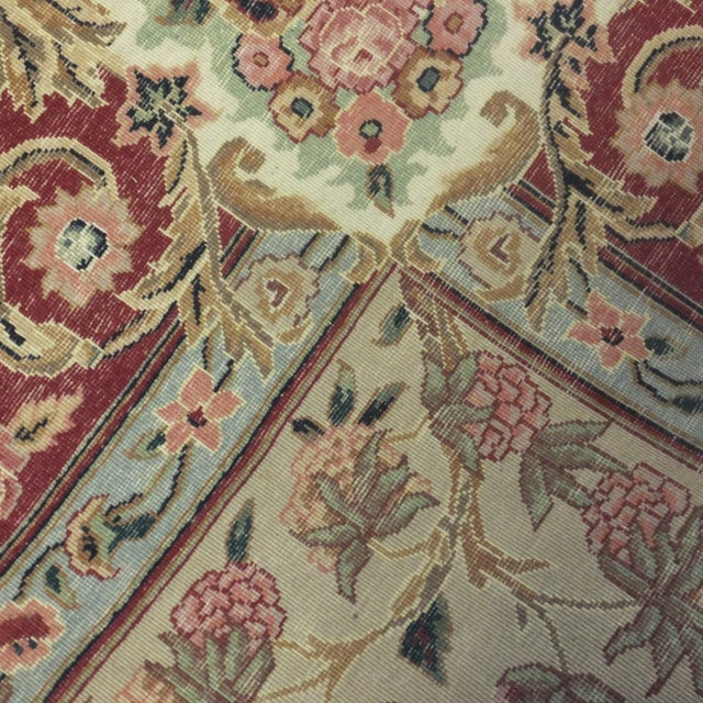 Square Sino Persian Carpet - 8′ × 8′1″ - Image 8 of 8