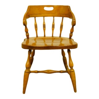 Vintage Drexel Heritage Solid Hard Rock Maple Colonial Style Chair For Sale