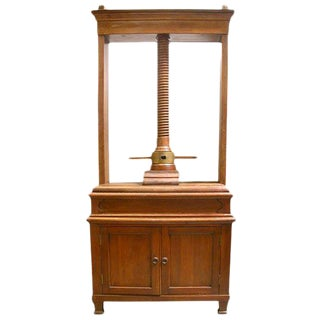 Dutch Oak Linen/Book Press For Sale