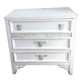 1970s Asian Modern Painted White Small Dresser For Sale
