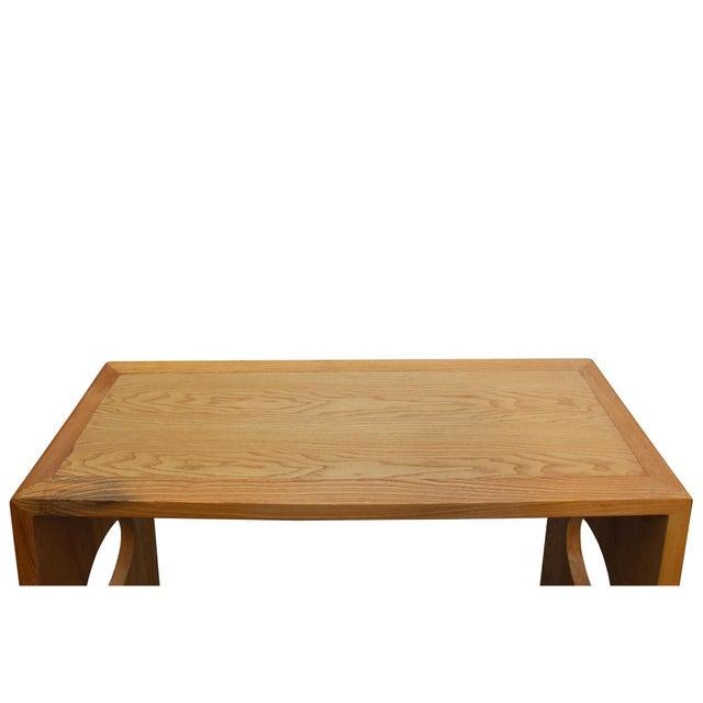 Oriental Zen Unfinished Wood Slim Open Side Table For Sale In San Francisco - Image 6 of 8