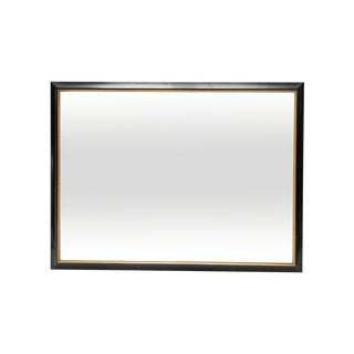 4ft Wide Large Black and Gold Mirror