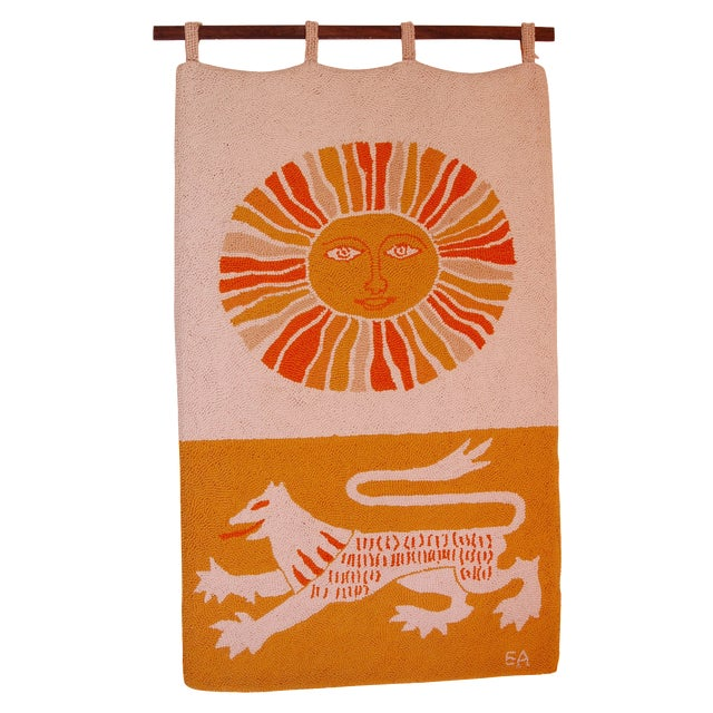 Evelyn Ackerman Sun & Lion Wall Tapestry For Sale