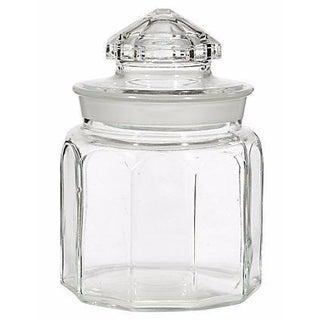 1950s Round Glass Jar