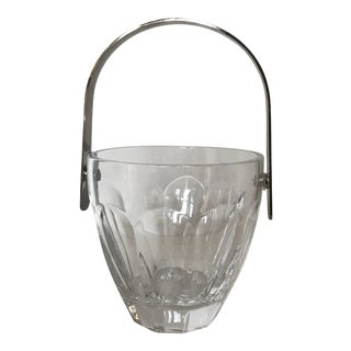 Vintage Italian Colle Signed Crystal Ice Bucket For Sale