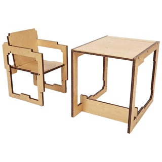 Danish Modern Kid's Convertible High-Chair & Table For Sale