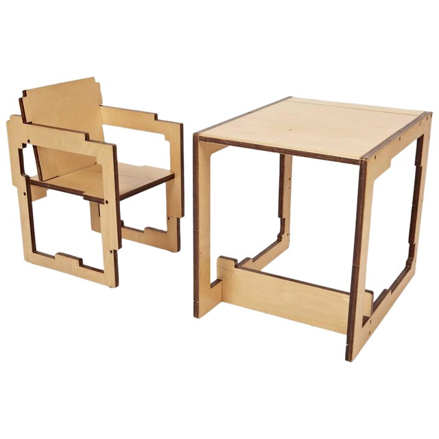 Danish Modern Kid's Convertible High-Chair & Table - Image 1 of 6