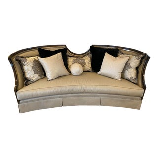 Marge Carson Luna Sofa with Accent Pillows For Sale