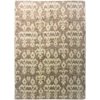 "Hand Knotted Ikat Rug - 8'11"" x 12' For Sale"