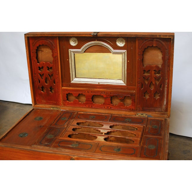 British Colonial Teak Travel Trunk/Chest - Image 6 of 9