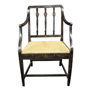 Adams Style Paint Decorated Chair For Sale