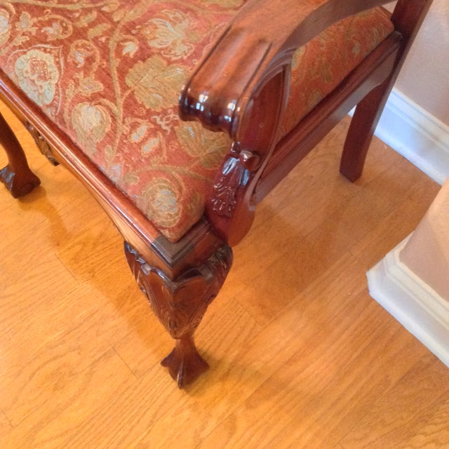 Chippendale Mahogany Arm Chair For Sale In Austin - Image 6 of 6