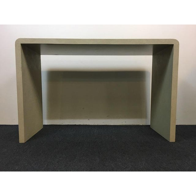 Art Deco Art Deco Style Faux Shagreen White Console Table For Sale - Image 3 of 7