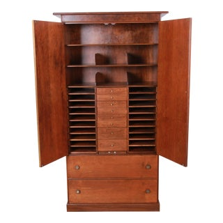Milo Baughman for Directional Mid-Century Modern Armoire Dresser, Newly Restored For Sale