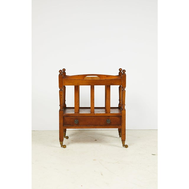 Early 20th Century English Sheraton Style Canterbury For Sale - Image 12 of 13