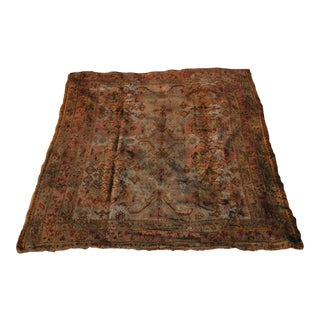 Antique 19th Century Smyrna Oushak Rug - 8′ × 9′ For Sale