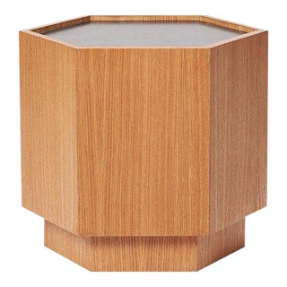 Sabin Oak Hexagon Vallejo Table For Sale