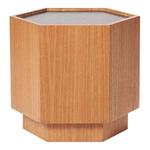 Sabin Oak Hexagon Vallejo Table For Sale