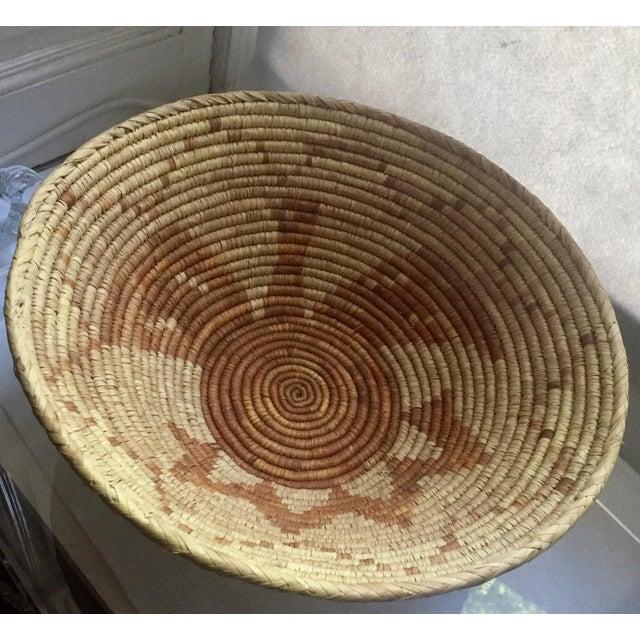 Vintage Native American Apache Pima Coil Basket - Image 3 of 11