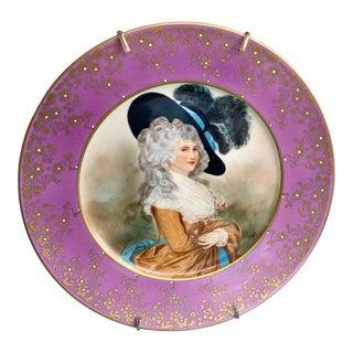 Antique Royal Vienna Signed Portrait Cabinet Plate For Sale