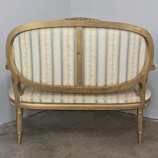 White 19th Century French Louis XVI Giltwood Sofa For Sale - Image 8 of 12