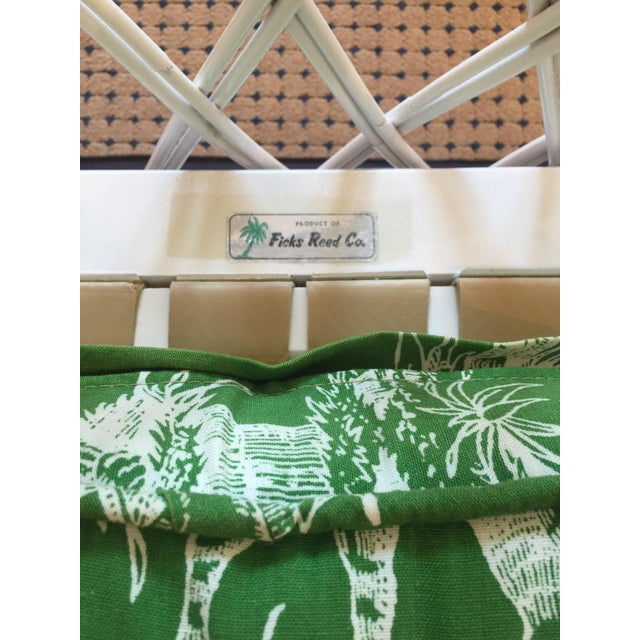 Ficks Reed Vintage Schumacher Fabric Trellis Barrel Chair For Sale In Saint Louis - Image 6 of 6