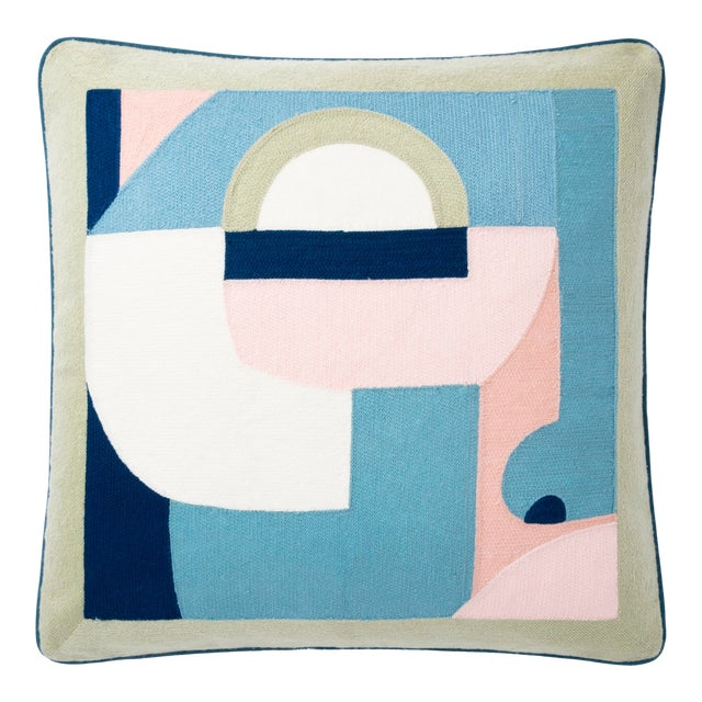 """Justina Blakeney X Loloi Multi 18"""" X 18"""" Cover with Down Pillow For Sale"""