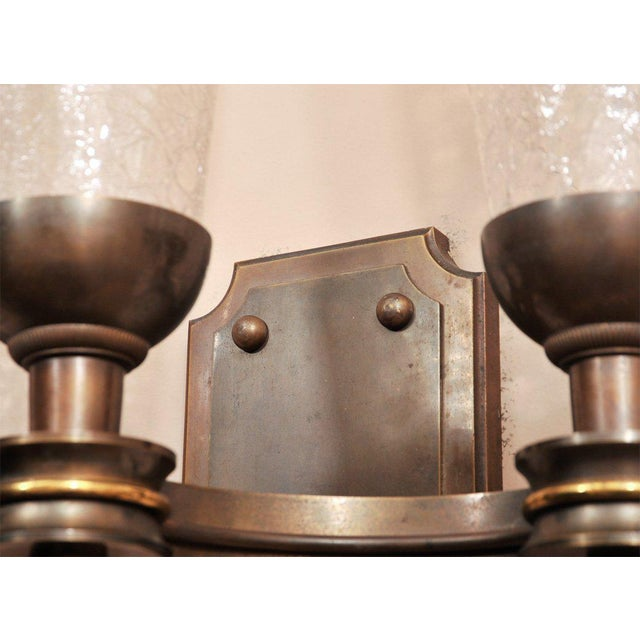 Pair of Monumental 1940s Wall Sconces For Sale In New York - Image 6 of 8