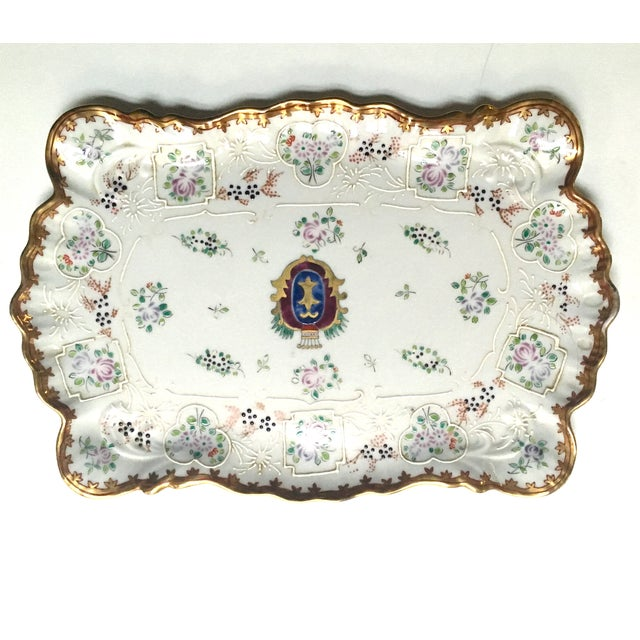 Hand Painted Embossed Ornate Dresser Tray - Image 8 of 8