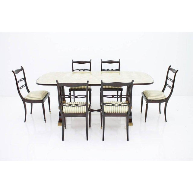Black Italien Dining Suite From 1959, Table and Six Chairs For Sale - Image 8 of 10