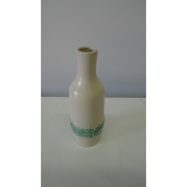 Danish modern style cabinet size vase. Made of ceramic in the mid 20th century.
