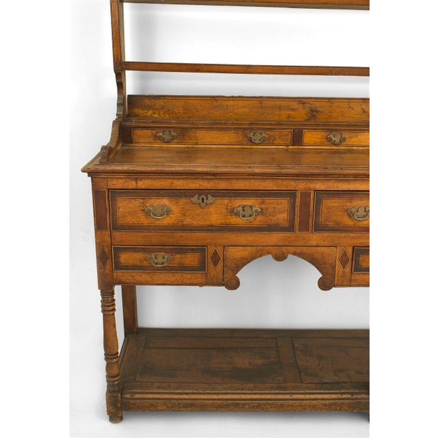 18th Century English Country Open Shelf Oak Sideboard For Sale - Image 4 of 5