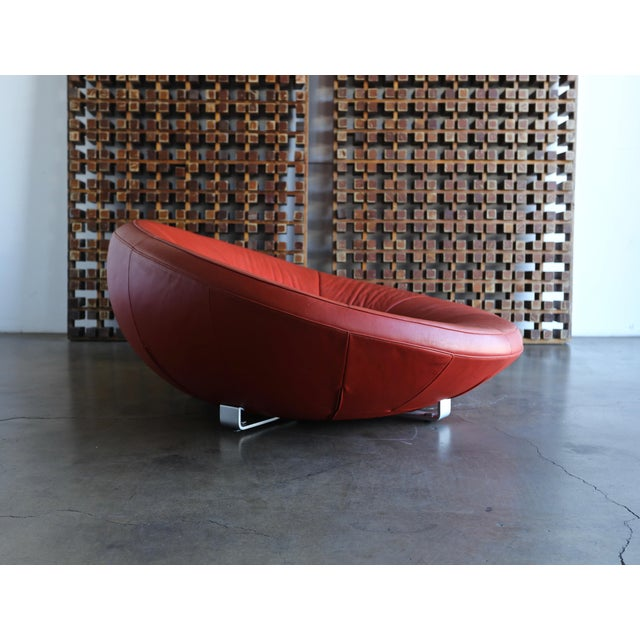 Jane Worthington DS 152 Red Leather Sofa for De Sede For Sale - Image 9 of 13