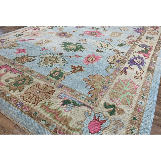 Contemporary Turkish Oushak Rug - 9′4″ × 13′3″, Pastel For Sale - Image 10 of 13