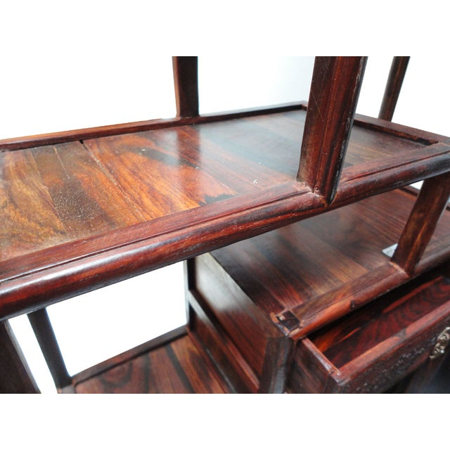 African Rosewood Desktop Display Chest Stand For Sale - Image 5 of 6