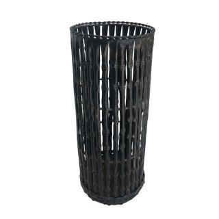 Faux Bamboo Metal Umbrella Stand