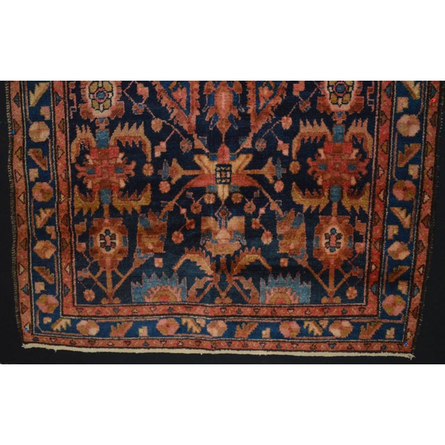 """Navy & Peach Antique Persian Rug - 4'4"""" x 6'8"""" - Image 6 of 6"""