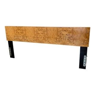 Milo Baughman Burl Wood King Headboard For Sale