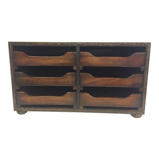 Traditional Theodore Alexander Wooden Desk Organizer For Sale