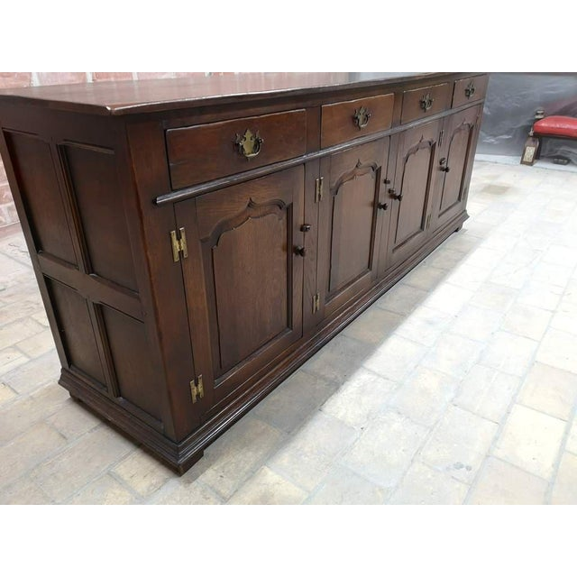 Early 20th Century Early 20th C. French Country Oak Sideboard Credenza Buffet Server For Sale - Image 5 of 13