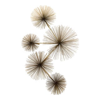 C. Jere Brass Urchin Sculpture Wall Art For Sale